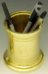 solid brass pencil cup
