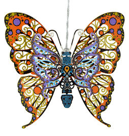 53149 Vibrant Butterfly Christmas Ornament by Chem Art