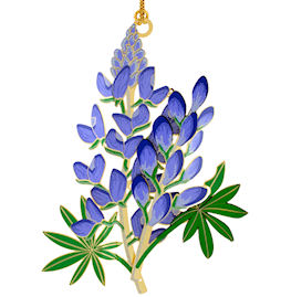 Blue Bonnet Christmas Ornament