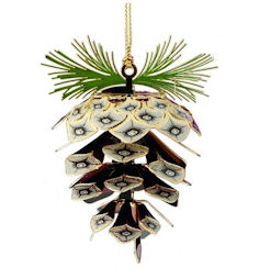 39111 Sylvan Pine Cone Christmas Ornament by Chem Art