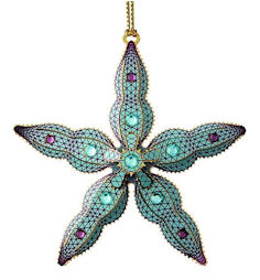 50585 Starfish Christmas Ornament by Chem Art