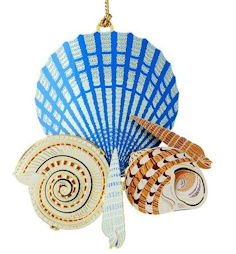 50586 Seashells on the Shore Christmas Ornament by Chem Art