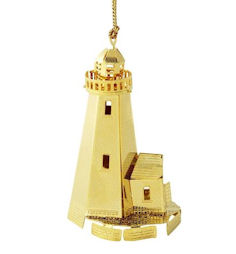 50721 Lighthouse Christmas Ornament by Chem Art