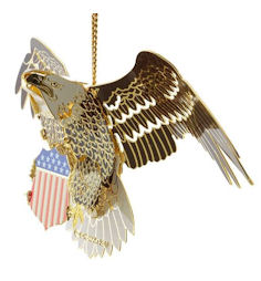 54436 Bald Eagle Christmas Ornament by Chem Art