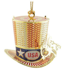 54444 Uncle Sam Hat Christmas Ornament by Chem Art