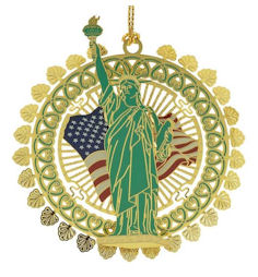 54445 Statue of Liberty Christmas Ornament by Chem Art