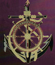 Anchor and Wheel Christmas Ornament