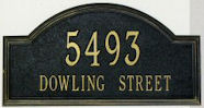 arched address plaque