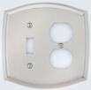 colonial style combo toggle/outlet switch plate