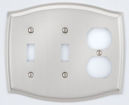 colonial style combo double toggle/outlet switch plate