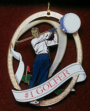 baldwin golfer ornament