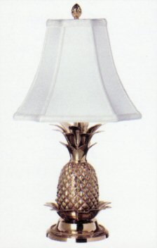 solid brass pineapple table lamp with protective lacquer. Black Bedroom Furniture Sets. Home Design Ideas