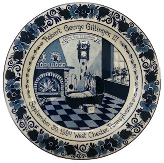 blue delft birth plate