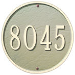 Whitehall 9 inch round address plaque #1033