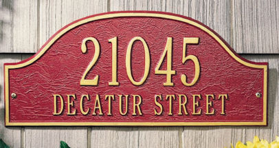 Admiral personaliized address plaque