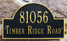 arched marker plaque