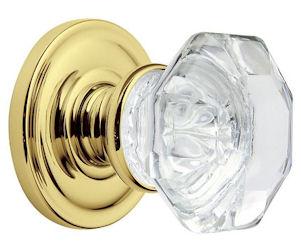 Beau Baldwin Estate 5080 Filmore Crystal Knob In Polished Brass 030