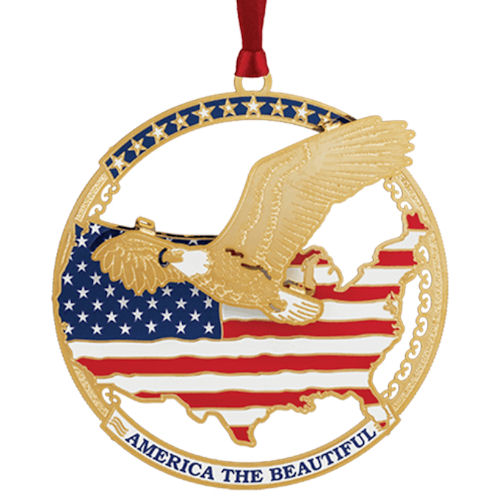 America the Beautiful Christmas Ornament