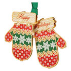 #59445 Holiday Mittens Christmas Ornament