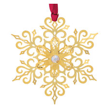 Brilliant Gold Snowflake Christmas Ornament