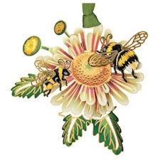 Bumble Bees Christmas Ornament