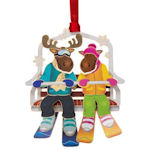 #61294 Moose on Chairlift Christmas Ornament