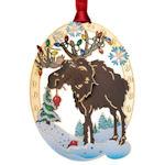 #61345 Holiday Moose Christmas Ornament