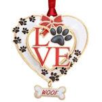 #61348 Dog Love Christmas Ornament