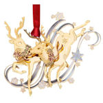 #61353 Frolicking Reindeer Christmas Ornament