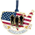 #62622 Land of the Free Christmas Ornament