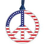 #62625 Americana Peace Symbol Christmas Ornament