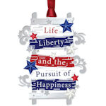 #62626 Life Liberty Ladder Christmas Ornament