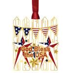 #62629 Americana Picket Fence Christmas Ornament