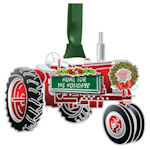 #62665 Holiday Tractor Christmas Ornament