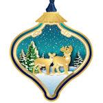 #62667 Winterscape Bulb Christmas Ornament