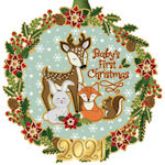 #62671 2021 Baby's First Christmas Ornament