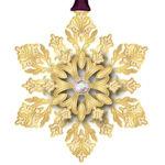 #62673 Glistening Snowflake Christmas Ornament