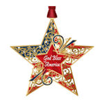 #62754 God Bless America Star Christmas Ornament
