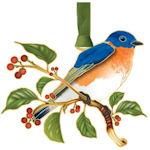#62777 Bluebird Christmas Ornament