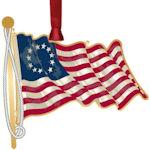 #62842 Betsy Ross Flag Christmas Ornament