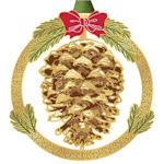 #62888 Festive Pine Cone Christmas Ornament