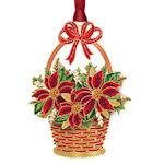 #63031 Poinsettia Basket Christmas Ornament
