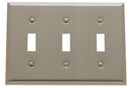 baldwin square bevel triple toggle switch plate