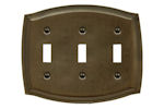 baldwin square bevel quad Toggle switch plate