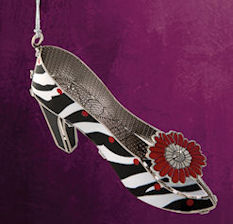 High Heel Shoe Ornament by Chem Art
