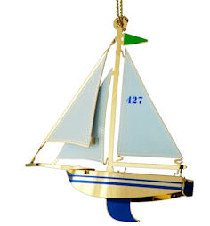 Chem Art Sailboat Christmas Ornament