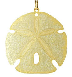 36420 Sand Dollar Christmas Ornament by Chem Art