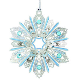 50778 Jeweled Snowflake Christmas Ornament by Chem Art