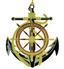 52076 Anchor and Wheel Christmas Ornament by Chem Art