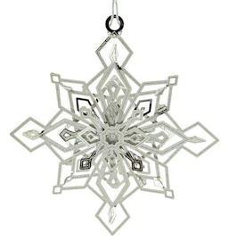 54425 Twinkling Snowflake Christmas Ornament by Chem Art